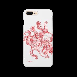 山口昇悟 Shogo Yamaguchiのタコ 赤 Smartphone cases
