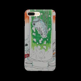 ★ 藤崎幾何 ★ illustrationの芋虫 SF Smartphone cases
