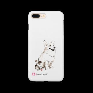 Komeco's world(SUZURI店)のウェルシュ・コーギー(おさんぽ) Smartphone cases