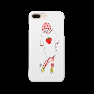 uni_artのいちごちゃん Smartphone cases