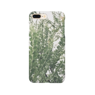 イエネコの植物 ミモザ Smartphone cases