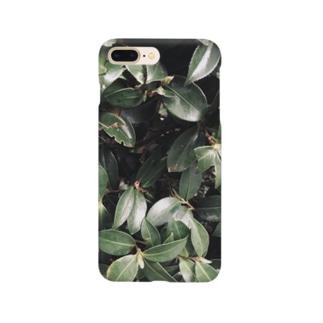 イエネコの植物 つばき Smartphone cases