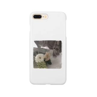 子猫とお花。 Smartphone cases
