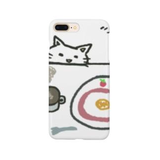 朝食狙う猫 Smartphone cases