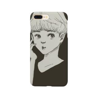 ショートカットの少女 Smartphone cases