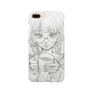 tamocchanのメガネちゃん(アナログ) Smartphone cases