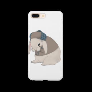 ㍻わらびモッチャのおめかし中のロップイヤー Smartphone cases