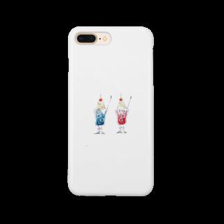 かふぇしょくにんのおそろいクリームソーダ Smartphone cases