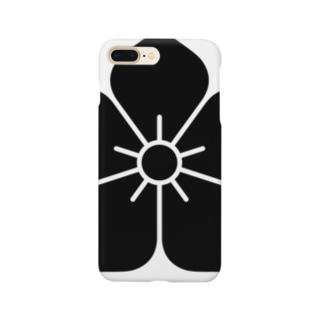 明智家の家紋(桔梗) Smartphone cases