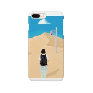 赤でも進む女の子 Smartphone cases