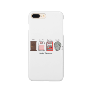 UdachikaのSocial Distance(ソーシャルディスタンス) メートル表記あり Smartphone cases