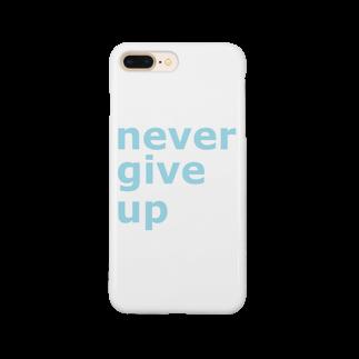 アメリカンベースのnever give up Smartphone cases