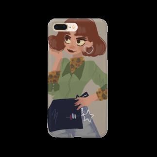 purple cigarettesの赤毛ちゃん Smartphone cases