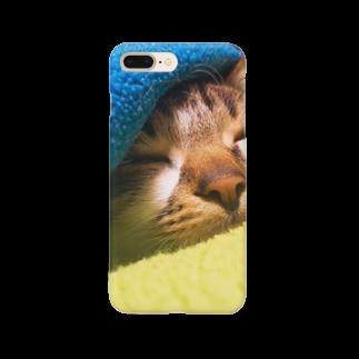 らむさんのめっかわグッズのすやすやらむさん Smartphone cases