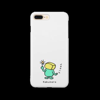 【Shop】ちょいメタ角太郎 Kakutaro cube manのKakutaro cube man 【flash】 Smartphone cases