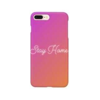 ステイホーム Smartphone cases
