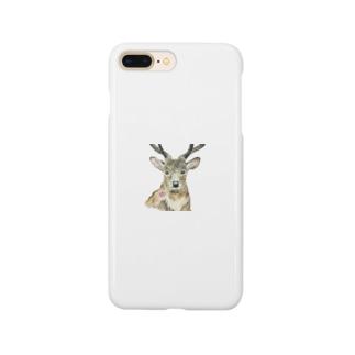 コスモスと鹿 Smartphone cases