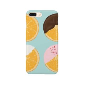 オランジェット(ミントカラー) Smartphone cases