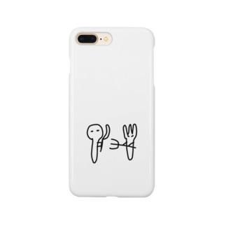 すぷーんとふぉーくのけんか Smartphone cases