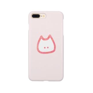 ねこさん。(水彩pink×pink) Smartphone cases