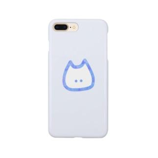 ねこさん。(水彩blue×blue) Smartphone cases