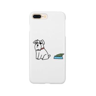 ホワイトシュナウザー Smartphone cases