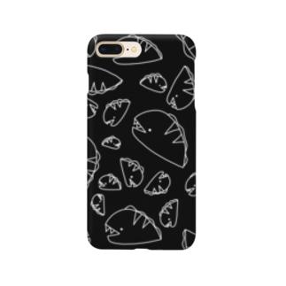 ながくないうつぼ ちらし 黒 Smartphone cases