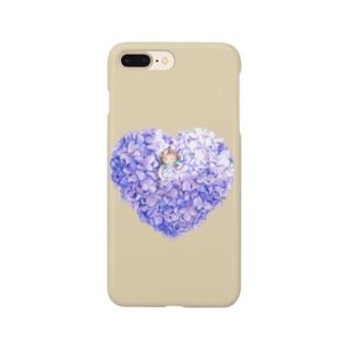紫陽花のベッドでおやすみ Smartphone cases