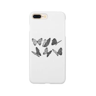 モノクロ蝶 Smartphone cases