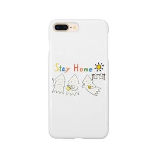 モンゴイカンパニー 販売部のSTAY HOME モンゴイカ Smartphone cases