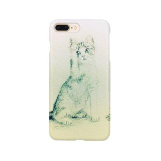 猫の小さな絵 Smartphone cases