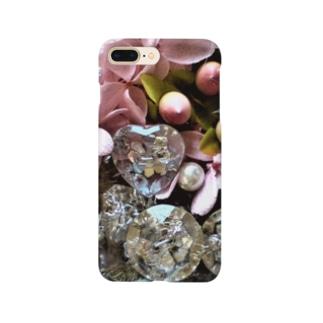クリスタルとアジサイと真珠 Smartphone cases
