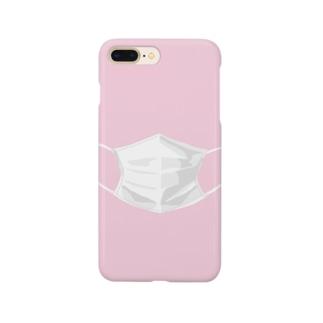 マスクするスマホ ピンク Smartphone cases