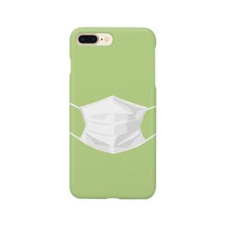 マスクするスマホ ライトグリーン Smartphone cases
