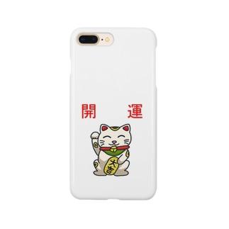 開運招き猫「にゃん吉」 Smartphone cases