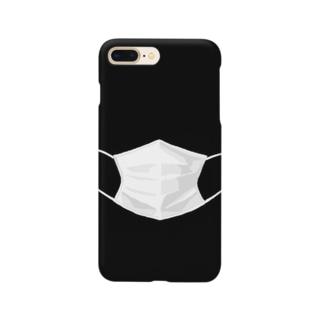 マスクするスマホ ブラック Smartphone cases