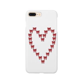 ハート型のリボン Smartphone cases