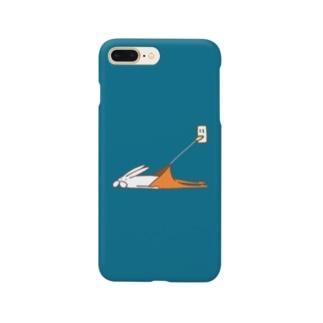 くらきち ONLINE SHOPのうさぎタイツの充電 Smartphone cases