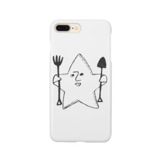 kashikichi ほしきち 星 キャラクター ブサカワ おもしろ スター Smartphone cases