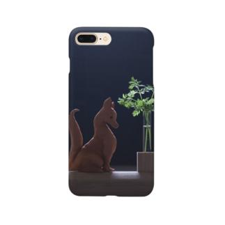 狐のハニワもどき Smartphone cases