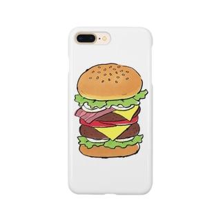 溝呂木一美のお店の食べたいハンバーガー Smartphone cases