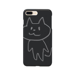 直立歩行する猫 Smartphone cases