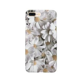実の白い花 Smartphone cases