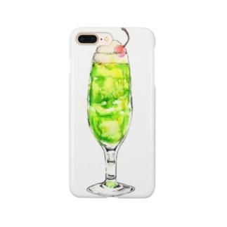 メロンソーダって美味しい? Smartphone cases