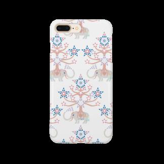 riya のWHITE ELEPHANT Smartphone cases