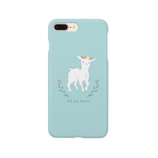 ヤギと花 Smartphone cases