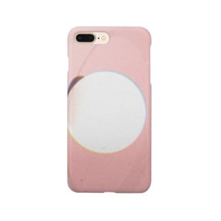 ピンクと丸 Smartphone cases