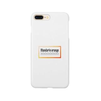 マンダリンオレンジTシャツ🧡 Smartphone cases
