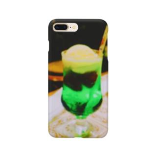 レトロクリームソーダ Smartphone cases