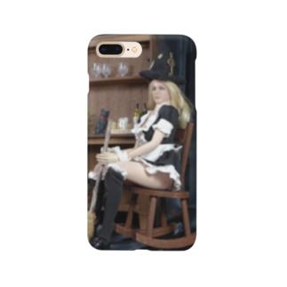 ドール写真:箒を持つブロンドの魔女 Doll picture: Pretty witch has a broom Smartphone cases